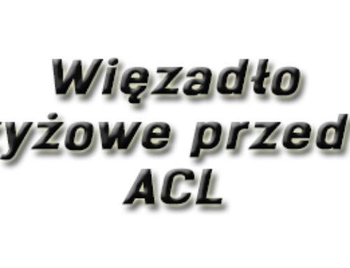 Więzadło krzyżowe przednie (ACL)