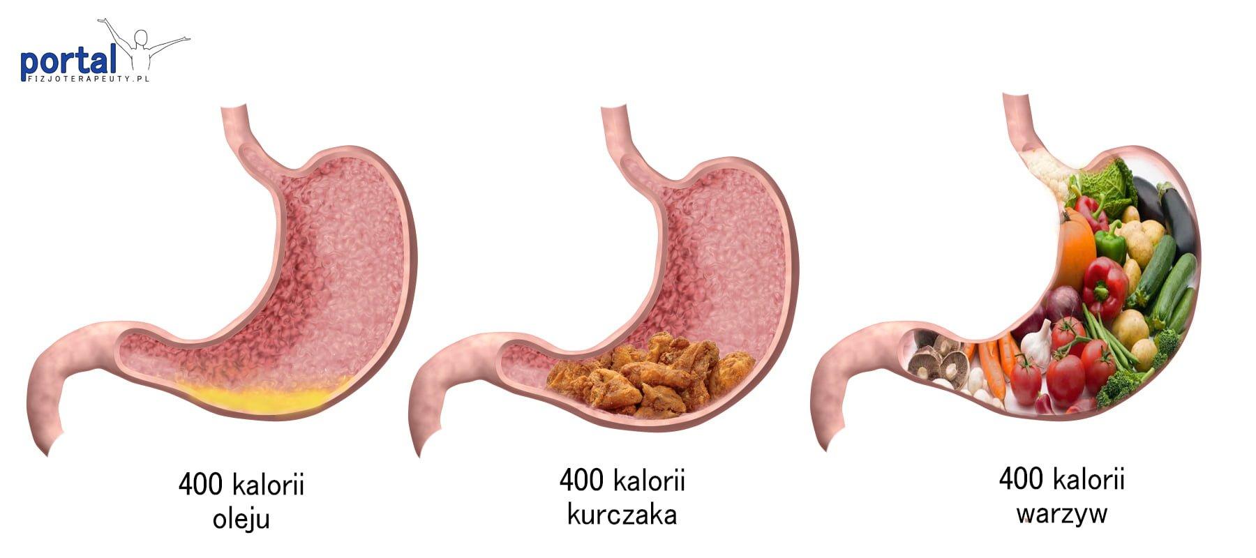 Żołądek a kalorie