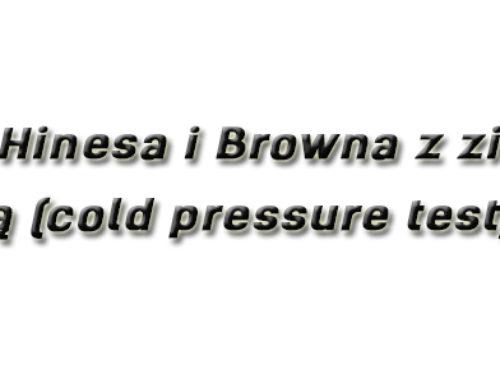 Test Hinesa i Browna z zimną wodą