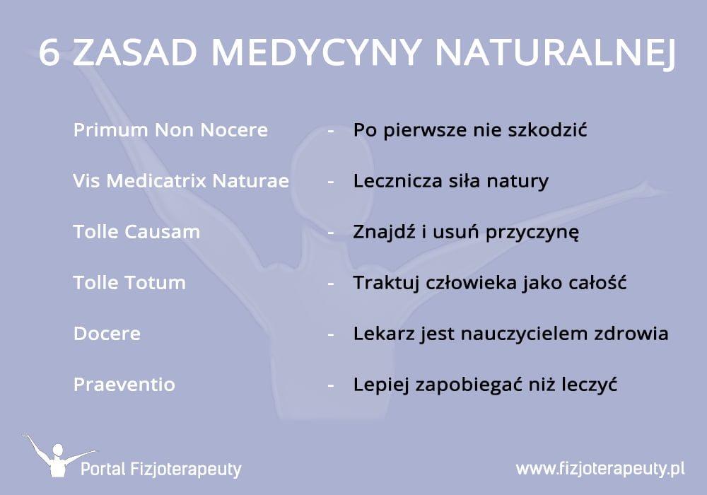 6 zasad medycyny naturalnej