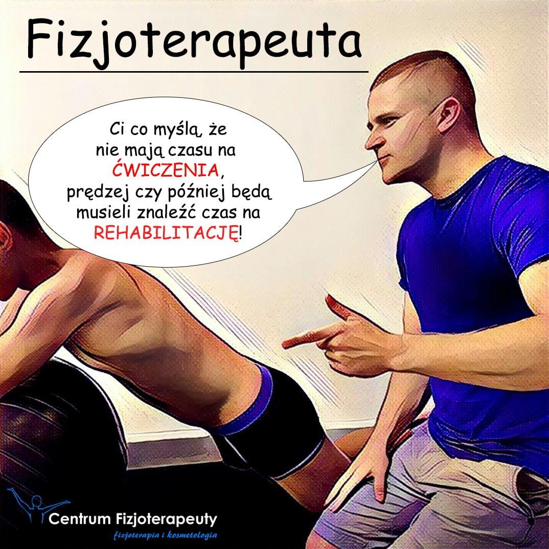 Fizjoterapeuta - ćwiczenia