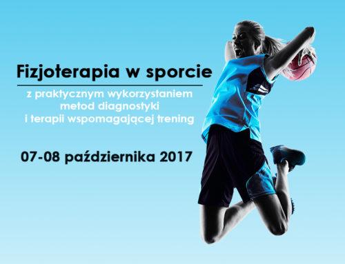 Szkolenie Fizjoterapia w sporcie (07-08.10.2017) – Tychy