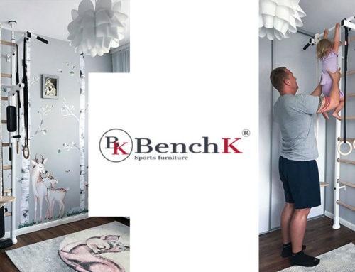 Certyfikowane drabinki gimnastyczne BenchK dla rodziny